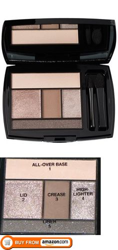 Lancome Color Design Eye Brightening All-In-One 5 Shadow & Liner Palette #100 Taupe Craze, WHAT IT IS: An eye-shadow kit of shimmery neutrals and one matte brown  HOW IT LOOKS/FEELS: The size of a credit card, this Lancôme palette comes with two applicators-one regular, one tapered. It con..., #Beauty, #Eye Shadow, $79.99