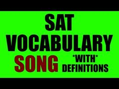 Great way for kids to learn vocabulary and for test prep!  SAT Vocab Rap Song including over 50 of the most common words used on the SAT. These vocabulary words come from TestTakers. I was inspired to make this song after taking Capital Educators SAT Test Prep. They helped me with my SAT scores, and now I would like to help more people.    https://twitter.com/#!/MrTypeOne  https://www.facebook.com/MrTypeOn...