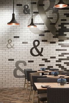 Jimbo & Rex, Crown Casino, Mim Design Handmade tiles can be colour coordinated and customized re. shape, texture, pattern, etc. by ceramic design studios