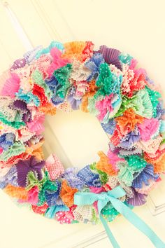 cupcake liner birthday wreath