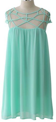 Mint Blue Cage Chiffon Dress http://rstyle.me/n/f9737nyg6