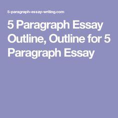 5 Paragraph Essay Outline, Outline for 5 Paragraph Essay