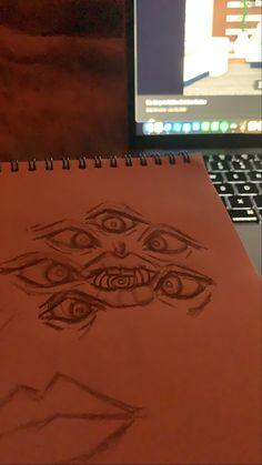 Trippy Drawings, Dark Art Drawings, Art Drawings Sketches Simple, Pencil Art Drawings, Indie Drawings, Arte Grunge, Grunge Art, Hippie Painting, Arte Sketchbook