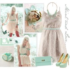 Mint and Lace, created by jill-hammel on Polyvore