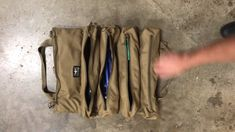 Yorktown Tool Roll is the ultimate tool roll pouch, delivering more carry options and organization. Four generously sized pockets (480 in³ total) store a variety of tools, while the back is designed to organize and quickly find wrench and tool sets. Atlas 46's Quick Roll System allows the pouch to easily roll up and condensed for better mobility.