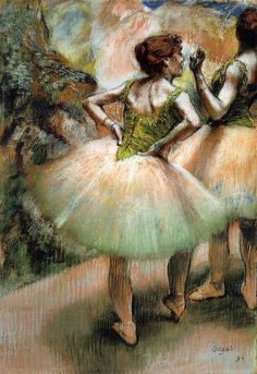Literally one of my favorite Degas paintings. That was Courtney and me in high school.