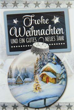 Die Christbaumkugel spiegelt die wundervolle weiße Winterlandschaft wieder... Wirklich wunderschön für die #Weihnachtsgrüße! Diy, Painting, White Christmas, Winter Scenery, Xmas Cards, Nice Asses, Bricolage, Painting Art, Do It Yourself