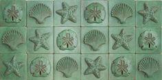 Our 6x6 Sea Life Decoratives in Malachite Green