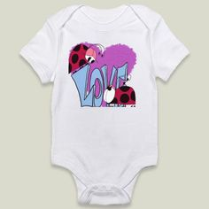 Shop for unique nursery art like the Ladybug Love Onesie by #OneArtsyMomma on #BoomBoomPrints today!  Customize colors, style and design to make the artwork in your baby's room their own!