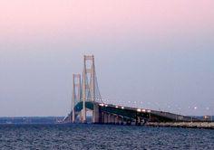 "The Mighty Mackinac Island Bridge, known as ""The Mighty Mac""!"