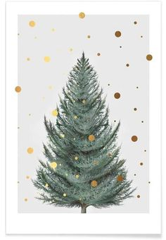 christmas poster Tanne als Premium Poster Christmas Mood, Noel Christmas, Christmas Design, Christmas And New Year, Christmas Crafts, Christmas Decorations, Christmas Posters, Painted Christmas Cards, Christmas Tables