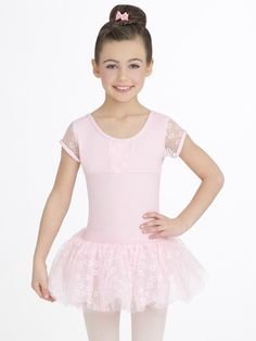 a3208f6082 Other Dance Shoes 153004  Capezio Girls Pink Flower Cap Sleeve Tutu Dress  Nwt (10128C