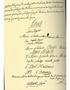 Acte de mariage du dauphin Louis [futur Louis XVI] et de l'archiduchesse Marie-Antoinette, le 16 mai 1770.