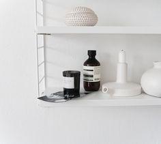 Via Ollie and Sebs Haus | White | String Pocket | Serax Candlestick