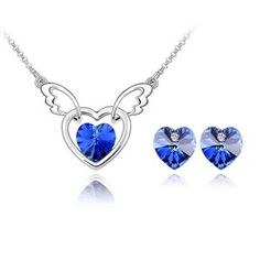 Austrian Crystal Set - Angel Mind ( Blue ) 4359