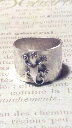 sterling silver ring silver metalwork handmade by WICKEDWIRED, $60.00