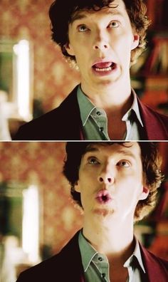 "Sherlock. ""Plain as the nose on your..."""