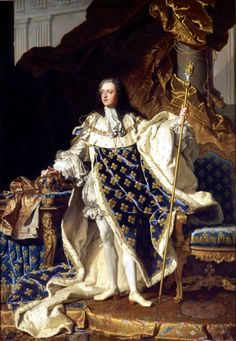 Louis XIV King of France and Navarre by Hyacinthe Rigaud (1701)