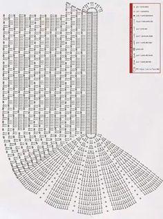 Crochet Doily with Fan Ends Pattern Diagram Crochet Doily Diagram, Crochet Stitches Patterns, Doily Patterns, Crochet Chart, Filet Crochet, Crochet Motif, Crochet Doilies, Crochet For Beginners Blanket, Baby Afghan Crochet
