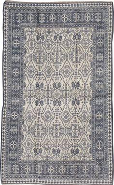Antique Cotton Agra Rug, No. 22334