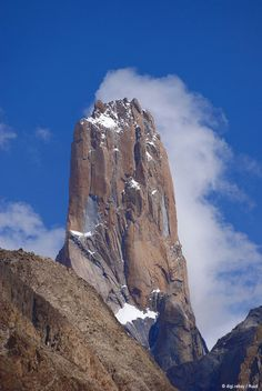 Great Trango Tower, Pakistan. The single largest vertical cliffside in the world.