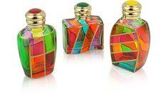 Goldoni - Hand Decorated Murano Glass Enamel-Capped Perfume Bottles - Due Zeta