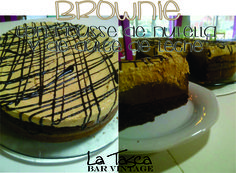 brownie con mousse