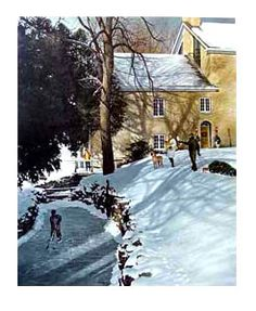 CHRISTMAS AT THE MILL Hockey Art Poster Print - By Ken Danby, 2000 - available at www.sportsposterwarehouse.com