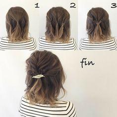 Lose Locke von kurzen Haaren Lose Hochsteckfrisur für kurze Haare #studiohb #studio ...,  #haare #haaren #hochsteckfrisur #kurze #kurzen #locke #studiohb
