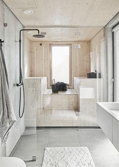 112 m² Jalokivikuja 6 C, 02750 Espoo Omakotitalo myynnissä - Oikotie 15075148 Bathtub, Cottage, Bathroom, Interior, Design, Home Decor, Summer, Build House, Standing Bath