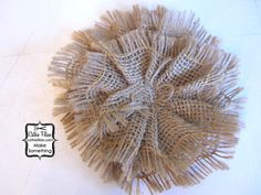 Burlap Fabric Flower to be Altered by cathiefilian, $4.00