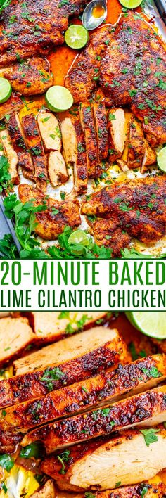 Cilantro Chicken, Lime Recipes, Chicken Breasts, Chicken Tenders, Cooking Recipes, Healthy Recipes, Main Meals, One Pot Meals, Sheet Pan