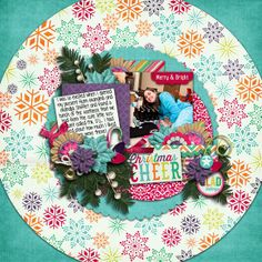Digital Scrapbook Layout by Guest CT Brittany | Merry and Bright by Bella Gypsy