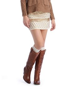 Lovemarks Beaded Mini Skirt