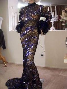 DRAG QUEEN SEXY black sheer sequins  STAGE DRESS GOWN BOLERO 1X 2X  16- 18 -20 #HandmadeByNora #Formal