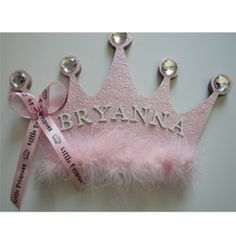 Princess Crown Personalized Name Plaque, Girls Princess Room Decor, Girls Nursery Wall Decor, Princess Crown Wall Art, Personalized Gift Diy Letters, Wooden Letters, Wooden Initials, Princess Room, Little Princess, Princess Crowns, Princess Party, Disney Princess, Crown Wall Decor