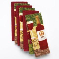 The Big One 6-pk. Wine Reactive Kitchen Towels