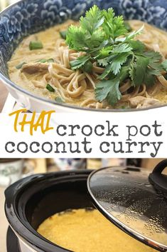 Khao soi - the coveted coconut curry noodle dish popular in Northern Thailand. Here's an easy-to-follow recipe with ingredient guide to make it at home. | thetravelbite.com | #ThaiFood #Curry #CoconutCurry #KhaoSoi #NoodleBowl Gourmet Recipes, Crockpot Recipes, Thai Recipes, Dinner Recipes, Soup Recipes, Thai Coconut, Coconut Curry, Noodle Bowls, Noodle Dish