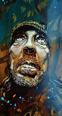 C215 - Portrait of FUTURA 2000 | por C215