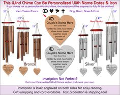 Loves Promise - Wedding Wind Chimes, The Perfect Wedding Gift!