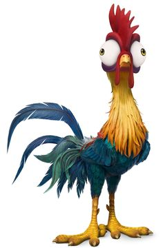 Heihei (sometimes spelled Hei Hei) is a major character in Disney's 2016 animated feature film Moana. He is a bumbling, accident-prone rooster and the Chicken Drawing, Chicken Painting, Chicken Art, Rooster Painting, Rooster Art, Rooster Tattoo, Cute Disney, Disney Art, Disney Wiki