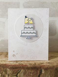 Lawn Fawn - Happy Wedding _ gorgeous card by Emma via Flickr _ https://flic.kr/p/FX7mxJ