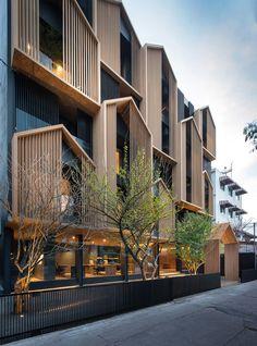 Apartment design exterior architecture 68 Ideas for 2019 Chinese Architecture, Facade Architecture, Residential Architecture, Hotel Design Architecture, Computer Architecture, Contemporary Architecture, Contemporary Design, Network Architecture, Futuristic Architecture