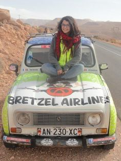 Bretzel Airlines on 4L Trophy 2013 Alsace on the road www.bretzelairlines.com #Alsace #bretzel #pretzel #4Ltrophy #aventure #adventure