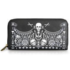 Skull Bandana Wallet by Loungefly #InkedShop #wallet #bandana #skulls #accessories #style #fashion