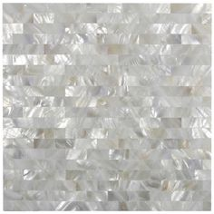 White Brick Groutless Mother of Pearl Shell Tile