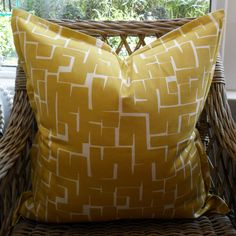 Chartreuse Squares Scatter Cushion with Oxford Edge Available including or excluding feather and down inner and in various sizes Cotton - Cold Wash Lead ti Scatter Cushions, Throw Pillows, Chartreuse, Indoor, Boutique, Collection, Interior, Toss Pillows, Decorative Pillows
