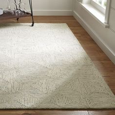 Presley Neutral Wool Rug   Crate and Barrel - 8'x10' - $999 - another idea for living room textural rug - RECOMMENDED ITEM