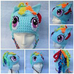 My Little Pony- Rainbow Dash crochet hat from Mistybelle Crochet