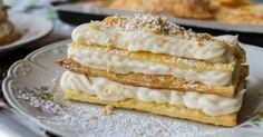 Υγεία - Τέτοιο γλυκό δεν έχετε φάει ξανά. Συστατικά Για την κρέμα 1 λίτρο γάλα, 3,5% λιπαρά 100 γρ. κορν φλάουρ 6 κρόκους 270 γρ. ζάχαρη 1 φασόλι βανίλιας 100 γρ.